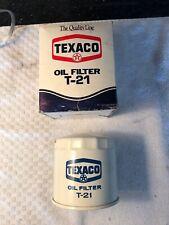Nos New Vintage Texaco T-21 Engine Oil Filter Car Truck