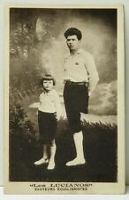 THE LUCIANOS AMPUTEE BALANCING JUMPERS CIRCUS PERFORMER SIDESHOW Postcard D16