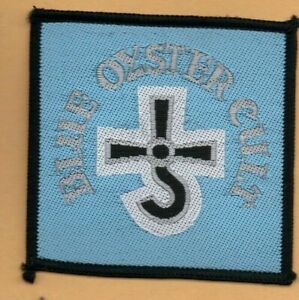 Blue Oyster Cult logo vintage 1970s SEW-ON PATCH - SQUARE version