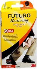 FUTURO Restoring Dress Socks For Men Firm Medium Black 1 Pair