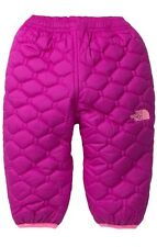 NWT North Face Perrito Girls Infant Pants 12M Reversible Insulated Pant Pink $55
