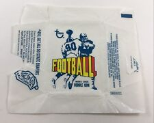 1972 Topps Football 2nd Series Wax Pack Empty Wrapper (Yellow Football/Blue) LB1