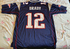 New England Patriots 2007 Jersey Nike TOM BRADY 12 Mens Large (UK XL)