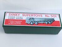 DINKY *Premier Quality* Repro Box 501 Foden Diesel  8-Wheel Wagon (1st cab) 901