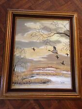 "Original painting by Mary Shaw: ""Ducks in Flight"