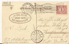 GAMEREN 1906 aankomsstempel op jubileumkaart REMBRANDT 1606-1906