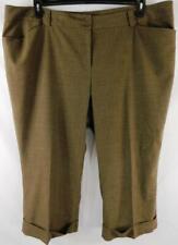 Lane bryant brown women's plus size folded hem career dress pants 28 Average