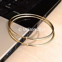 Big Large Clip On Fake 6cm 60mm Gold Earrings Ear Hoops - For Non Pierced Ears