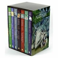 The Chronicles of Narnia Complete 7 Hardcover DJ Books Set C.s. Lewis UNREAD