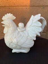 Pretty Vintage Kaldun & Bogle? White Ceramic Rooster Teapot Excellent Condition
