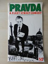 1985 - Olivier Theatre Playbill - Pravda - Anthony Hopkins - Bill Moody