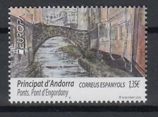 ANDORRA SPAIN 2018 EUROPA CEPT BRIDGES MNH
