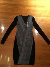 Elie Tahari 2978 Womens Cara Blue V-Neck Long Sleeves Formal Dress Size US 0