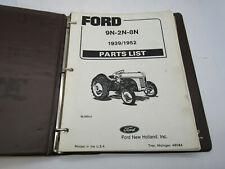 Ford 9n 2n 8n Tractor Parts List Catalog 4 Cylinder 1939 1952 48084