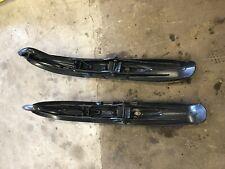 Ski Doo Rev XP XS XR MXZ X TNT Mach Pilot 5.7 Plastic Black Skis Ski Pair