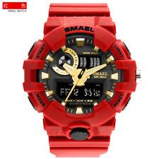 SMAEL Men Tactical Military Sport LED Digital Analog Army Waterproof Wrist Watch