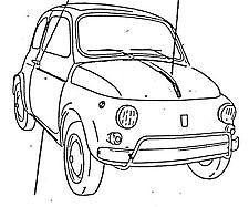 Modonature Cromate Fiat 500 F Cofano Porte Parafanghi dx sx