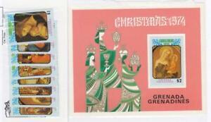 GRENADA GRENADINES (SP39-40) # 32-40,129-136 VF-MNH 1974+75 CHRISTMAS+S/SHEETS