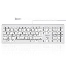 Perixx Ultraflach USB Apple Tastatur Weiß Hintergrundbeleuchtung LED - QWERTZ
