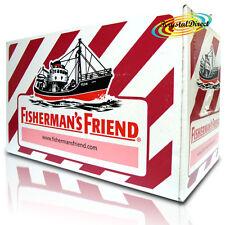 24x Fisherman's Friend Cherry Menthol Sugar Lozenges Sweeteners 25g