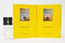 Acqua Di Parma COLONIA ASSOLUTA 1.5 ml 0.05 oz Men EDC Spray Cologne Sample X2