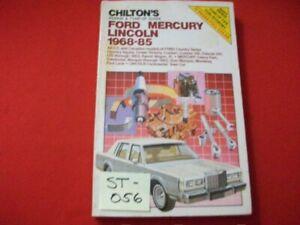 1968-85 FORD MERCURY LINCOLN REPAIR & TUNE-UP GUIDE CROWN VICTORIA GRAN MARQUIS+