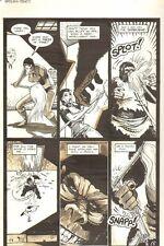 Planet of the Apes #16 p 5 - Battle Scene - Malibu Comics 1991 art by M.C. Wyman
