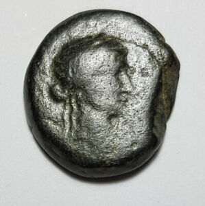 Ancient Greek Bronze Coin City of Elaea, Aeolis - 133 B.C-A.D. Demeter