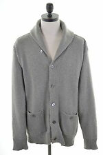 POLO RALPH LAUREN Mens Shawl Neck Cardigan Sweater XL Grey Cotton