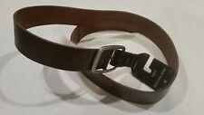 "John Varvatos USA Size 36 Brown Leather Belt Nickel Buckle 1 5/8"""