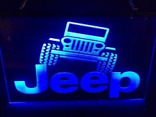 Jeep Custom Led Neon Light Sign Garage Man Cave Bar ( You Pick Color)