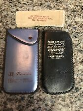 Vintage Lot Of 2 Eyeglasses Case The Hotel Miramar Kowloon HK & Princeton
