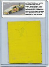 JUAN PABLO MONTOYA NASCAR RACE USED SHEET METAL JUICY FRUIT CAR PIECE 2007 N 209