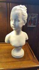 ANTIQUE  MARBLE FRENCH BUST of Louise Brongniart russian interest