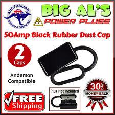 2 x Dust Cap Cover for 50Amp Anderson Plug Connector Trailer Caravan 4x4 Fridge