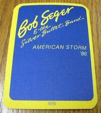 UNUSED Genuine OTTO Backstage Pass Bob Seger American Storm Tour 86 NAVY BLUE ve