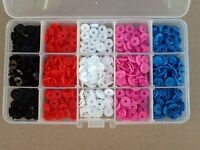 101pcs Plastic Snap Fasteners Kit, Includes 15 Compartment Case