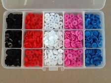 126pcs Plastic Snap Fasteners Kit, Includes 15 Compartment Case