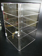 "Acrylic Countertop Display Case 12"" x 12"" x 19"" Locking Security Show Case Safe"