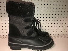 Clarks Womens Insulated Winter Snow Duck Boots Size 7 M Black Gray