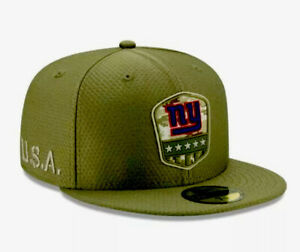 """New Era NFL New York Giants """"SALUTE TO SERVICE"""" 59FIFTY Fitted Hat Sz 7 1/4 NEW."""