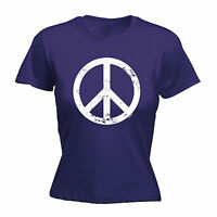 Peace Symbol WOMENS T-SHIRT tee love war funny mothers day gift present for her