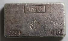 JMC 999+ Maple Leaf 10 Oz Silver Bar Johnson Mathey Canada