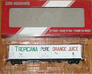 RED CABOOSE RR-34810-04 R-70-15 TROPICANA WHITE WITH LARGE LETTERING 1970 TPIX