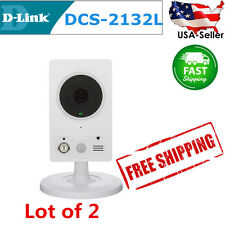 Lot of 2 D-Link HD Wireless Surveillance Day / Night Motion Detection Camera