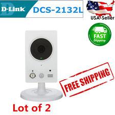 2 x D-Link HD Wireless Surveillance Day/Night Motion Detection Camera -DCS-2132L