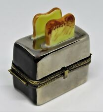 Limoges Box - Gr - Retro 'Chrome' Toaster - 3D Piece Of Toast With Jelly Inside