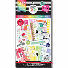 New MAMBI Create 365 The Mini Happy Planner Rainbow Value Sticker Book (1140pc)