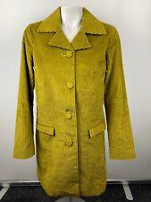 Missoni for Target Sz XS Corduroy Velvet Jacket Trench Coat Mustard Yellow