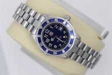 Tag Heuer 2000 Professional Sport SS Watch Womens WM1313 Blue Silver Mint Glass